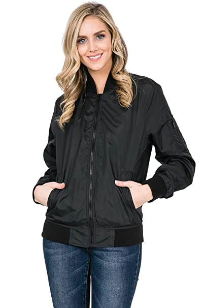 5c8a1f06a Over Kleshas Lightweight Zip-Front Oversized Bomber Jacket