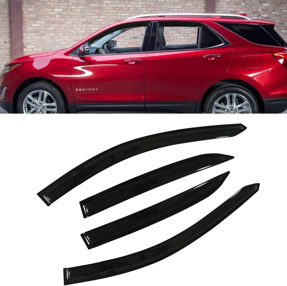 4-Piece Set for 2018-2018 Chevrolet Equinox Auto Ventshade 94634 Original Ventvisor Side Window Deflector Dark Smoke