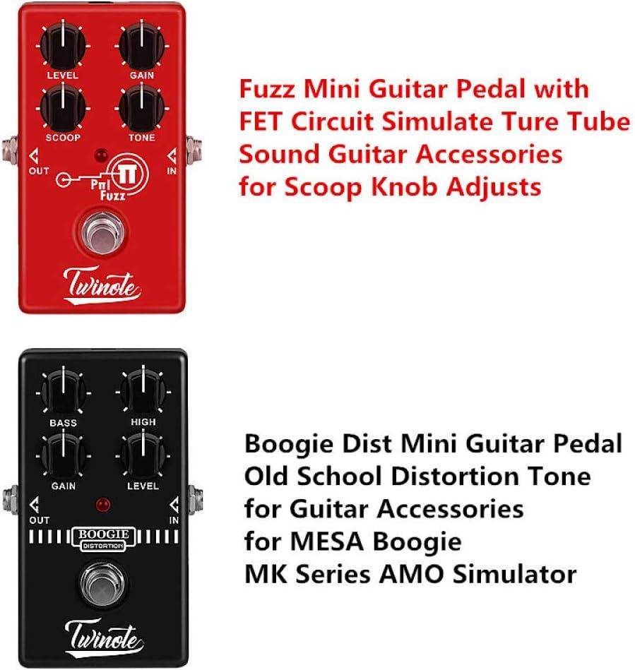 Alician Fuzz Mini pedal de guitarra con circuito FET simulado de tubo de sonido Ture accesorios para guitarra para ajuste de la perilla de la pala