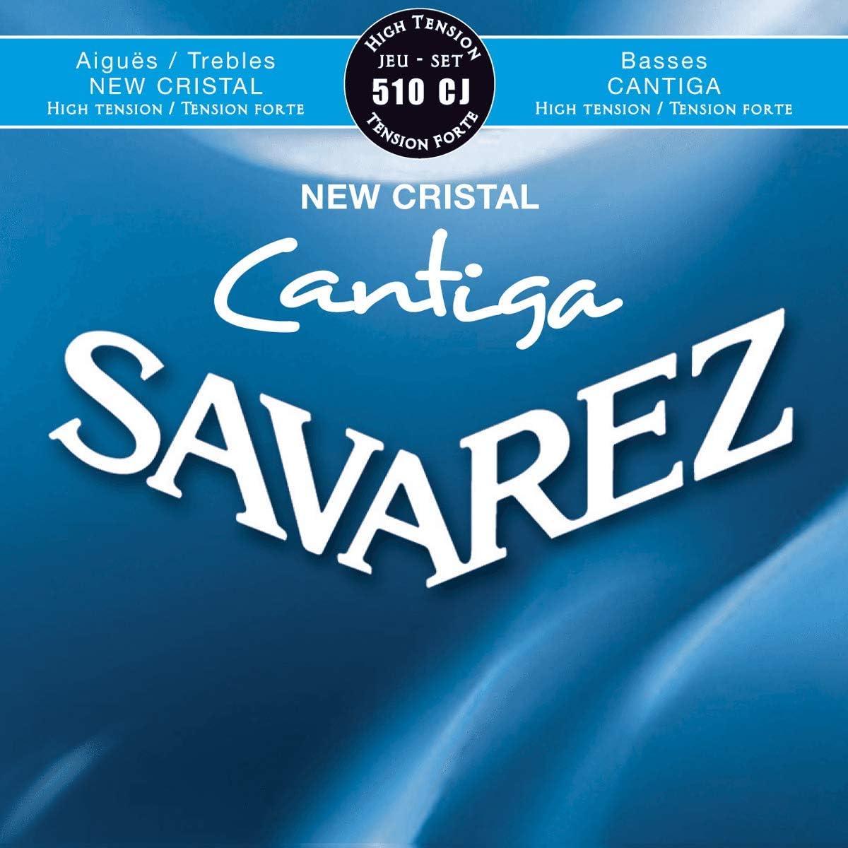 Savarez Cuerdas para Guitarra Clásica New Cristal Cantiga juego 510CJ Tensión alta, azul