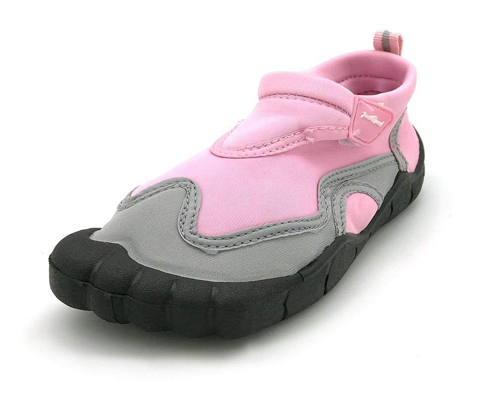 Just Speed Girls Water Shoes Toes Finger Aqua Socks Pool Water Hikes Beach Sand Size 11 Pink Gray for Beach Pool Slip On