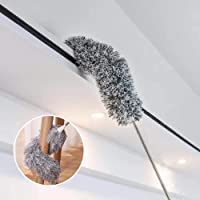 """Dusters for Cleaning Extendable,HAINABC Extendable Duster Reaches Up to 100"""",Microfiber Duster for Cleaning Ceiling Fan/Keyboard/Furniture/Cobweb"""