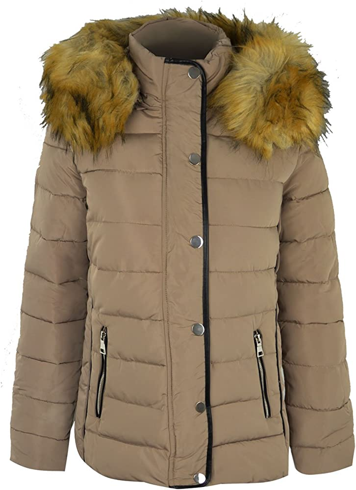 Fashion Thirsty Womens Quilted Hooded Winter Puffer Coat