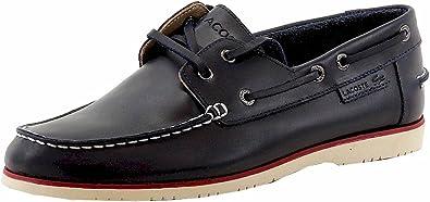 Fashion Dark Blue Leather Boat Shoes Sz
