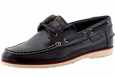 4cc04e03b2 Amazon.com | Lacoste Men's Corbon 8 Fashion Dark Blue Leather Boat ...