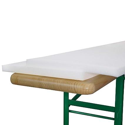 Beautissu - Juego de planchas de Goma-Espuma para Banco (2 Unidades, 25 x 220 x 2 cm)