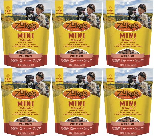 Zuke's Mini Naturals Moist Miniature Dog Treats Salmon 2.25Lb (6 x6oz)