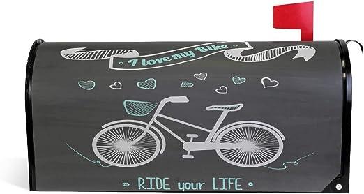 Funda magnética para buzón de Correo de Bicicleta con Texto en ...