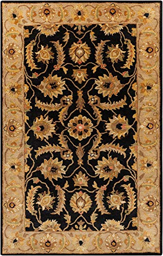 - Surya Ancient Treasures A-171 Classic Hand Tufted 100% Semi-Worsted New Zealand Caviar 5' x 8' Traditional Area Rug