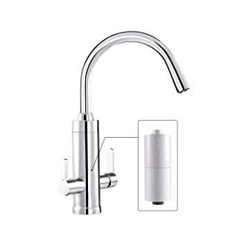 Wagen Built-in Filter Kitchen Faucet, 8 Stage 0.05micron Filter ...