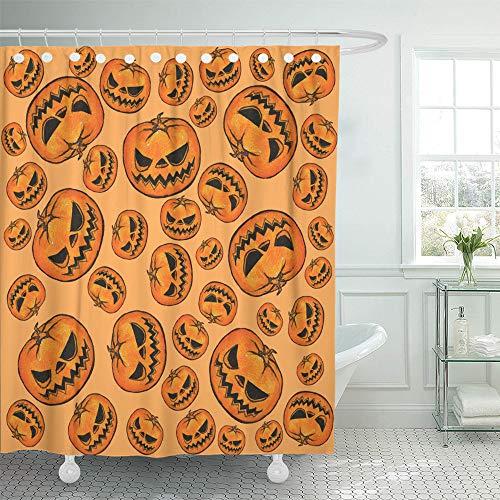 Emvency Shower Curtain Set Waterproof Adjustable Polyester Fabric