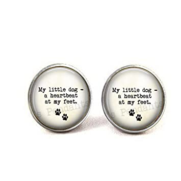 Amazoncom Stap Dog Lover Cufflinks My Little Dog A Heartbeat At