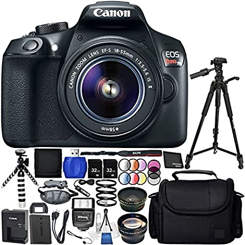Canon EOS T6 with EF-S 18-55mm f/3.5-5.6 IS II Lens 18PC Accessory Bundle – Includes 72