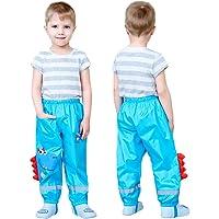 Coralup Niños Niños Lluvia Impermeable Pantalones Pequeñas Niñas Barro Sucio Prueba Pantalones Niños Con Capucha Poncho…