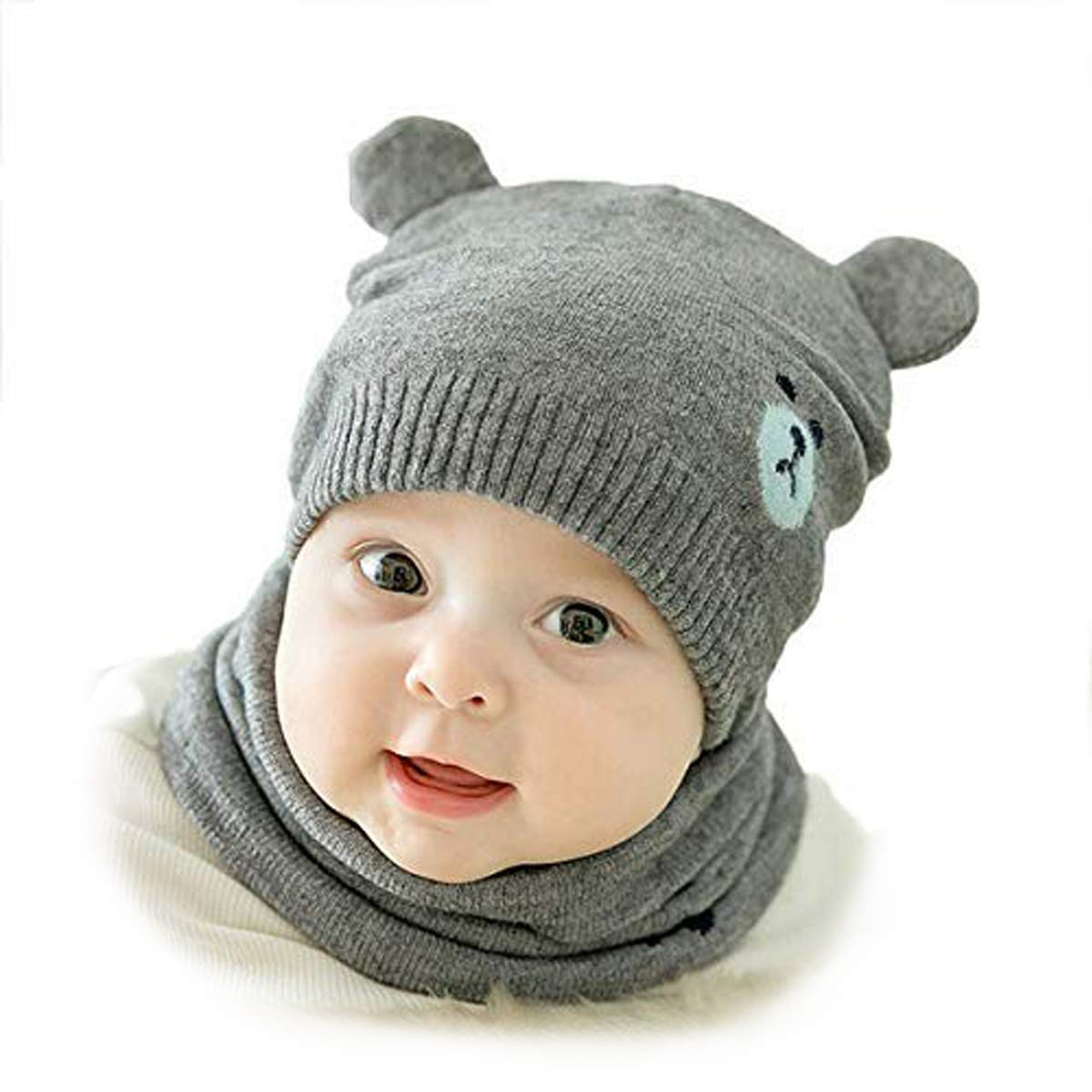 AHAHA Baby Hat for Girls and Boys Winter Beanie Earflaps Hat for Infant Toddler 0-2 Years