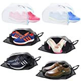 Plusmart Travel Shoe Bags, Transparent Nylon Shoe Washing Bag with Zipper for Men & Women, 6 Pack(4 Shoe Bags & 2 Shoe Washing Bags)