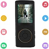 SF 8GB MP3 Player with Voice Recorder, Photo Viewer, E-Book Reader, USB charger, MaxPortable Lossless Sound 70 Hours Playback(Black)