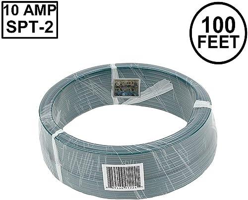 Novelty Lights 100 Foot Zip Cord Wire, Green, 18 Gauge, SPT-2