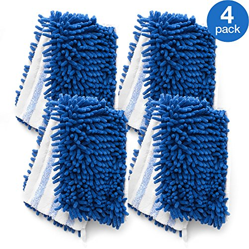 O-Cedar Dual-Action Microfiber Flip Mop Refill (Pack of 4) Dual Action Sweeper