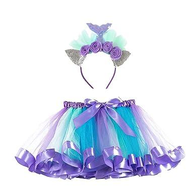 Julhold - Disfraz de tutú para niñas y niños de 2 a 11 años ...