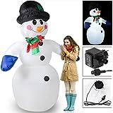 Aufblasbarer Schneemann XXL ✔ riesige Figur 240cm ✔ selbst aufblasend ✔LED-Beleuchtung ✔ inkl. Elektropumpe ✔ Befestigungsmaterial✔ schöne Weihnachtsdekoration - Schneemann zum aufblasen Snowman