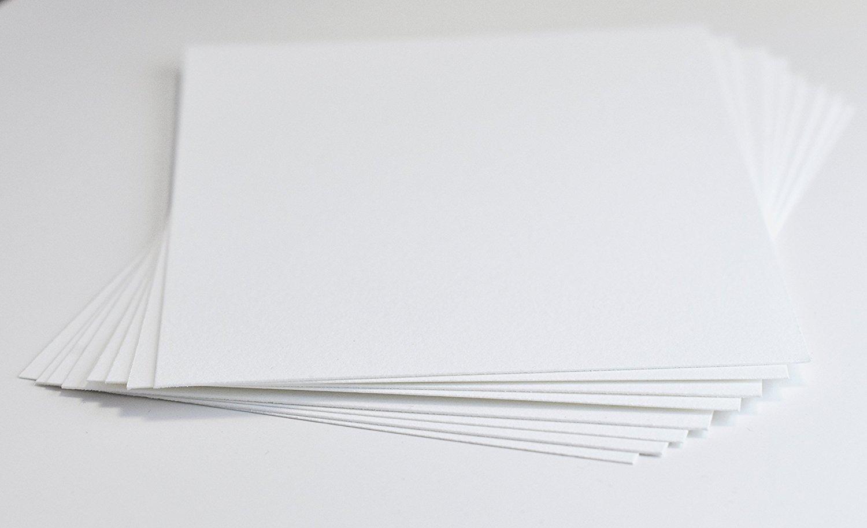 Crane's Lettra 100% Cotton Paper 600gsm/220lb (100 Qty) (Fluorescent White, 4.25x5.5 (A2))