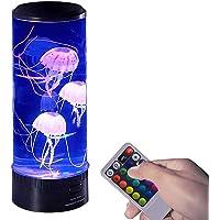 Kwallen Lamp, LED kwallen Lamp Fantasy Lava Lamp met 6 kleurverandering, Elektrische Jelly Fish Tank voor Woonkamer…