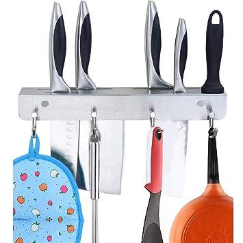 AIYoo - Estante para cuchillos de cocina de acero inoxidable ...