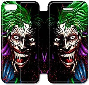 iPhone 5 5s Funda, Flip funda para iPhone 5 5s, [EL JOKER] premium Flip PU ??cuero Funda para iPhone 5 5s [DDUIPH3462010]