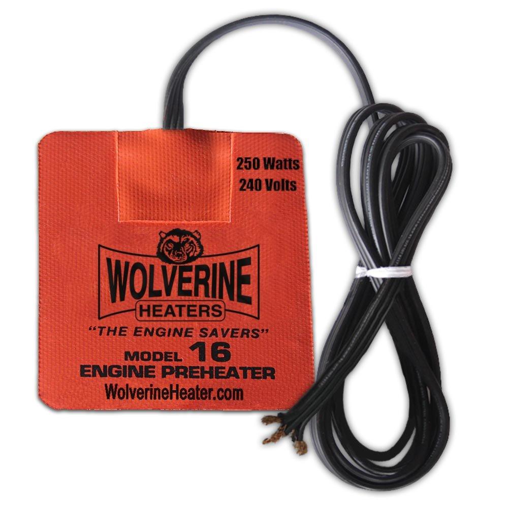 Wolverine Heaters - Model 16 - 250 Watts - Engine Oil, Reservoir, Biofuel and Hydraulic Fluid Heater - 240 Volts