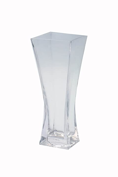 Amazon Diamond Star Glass 4x4x10 Clear Flared Square Vase