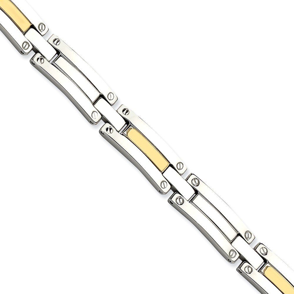 ICE CARATS Stainless Steel 14k 8.5 Inch Bracelet 8.50 Men Fine Jewelry Dad Mens Gift Set by ICE CARATS (Image #3)