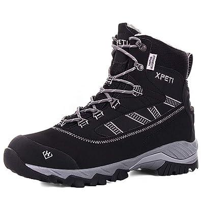 588bbf804676 XPETI Men s Oslo Winter Snow Mid-Rise Waterproof Multifunctional Hiking  Warm Fur Lining Boots Black