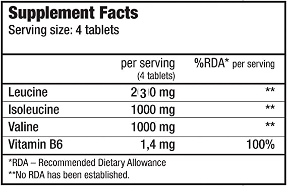 Biotech BCAA+B6 200 Tabletas de Aminoácidos 4000 mg - 200 gr: Amazon.es: Salud y cuidado personal