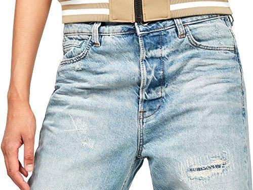 Boyfriend Restored S star Wmn Lt High Raw Jeans Friend Midge G Donna Aged wAqB7q