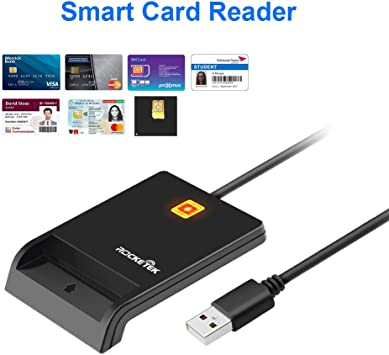Lector de Tarjetas Inteligentes, Rocketek Smartcard Reader Lector de DNI Electrónico DOD Military Acceso común, Lector de Tarjetas de Memoria CAC Compatible con Windows XP/Vista/7/8/10, Mac OS: Amazon.es: Electrónica