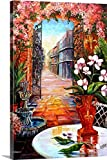 Diane Millsap Premium Thick-Wrap Canvas Wall Art Print entitled View from a French Quarter Courtyard 32''x48''