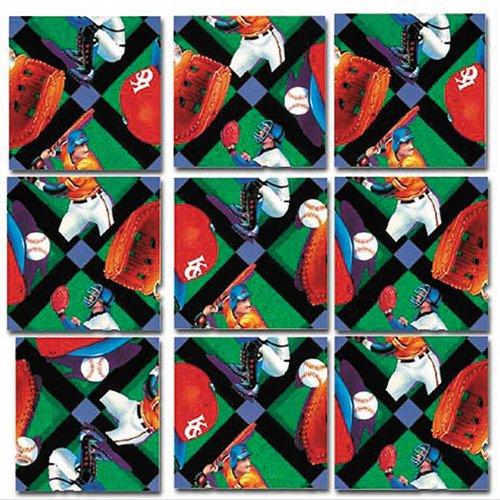 Square Brain Teaser (Scramble Squares: Baseball)