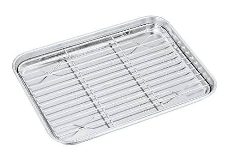 Amazon Toaster Oven Pan Tray with Rack Set P&P Chef