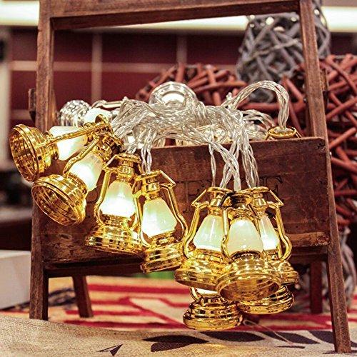 [Christmas Festival 20 LED Lantern String Light, Battery Operated (Golden)] (Halloween Animatronics Sale)