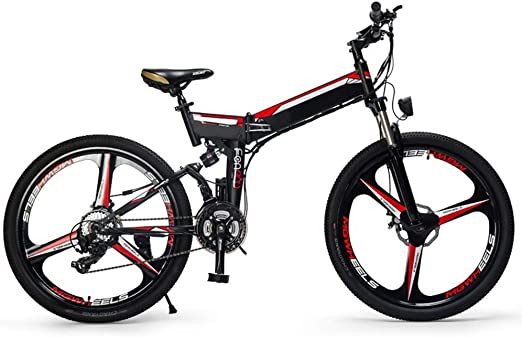 H&J Bicicleta eléctrica Plegable, Scooter eléctrico de montaña ...