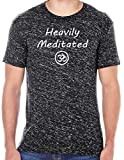 Yoga Clothing For You Mens Heavily Meditated with OM Performance Tee, Large Black Blizzard For Sale