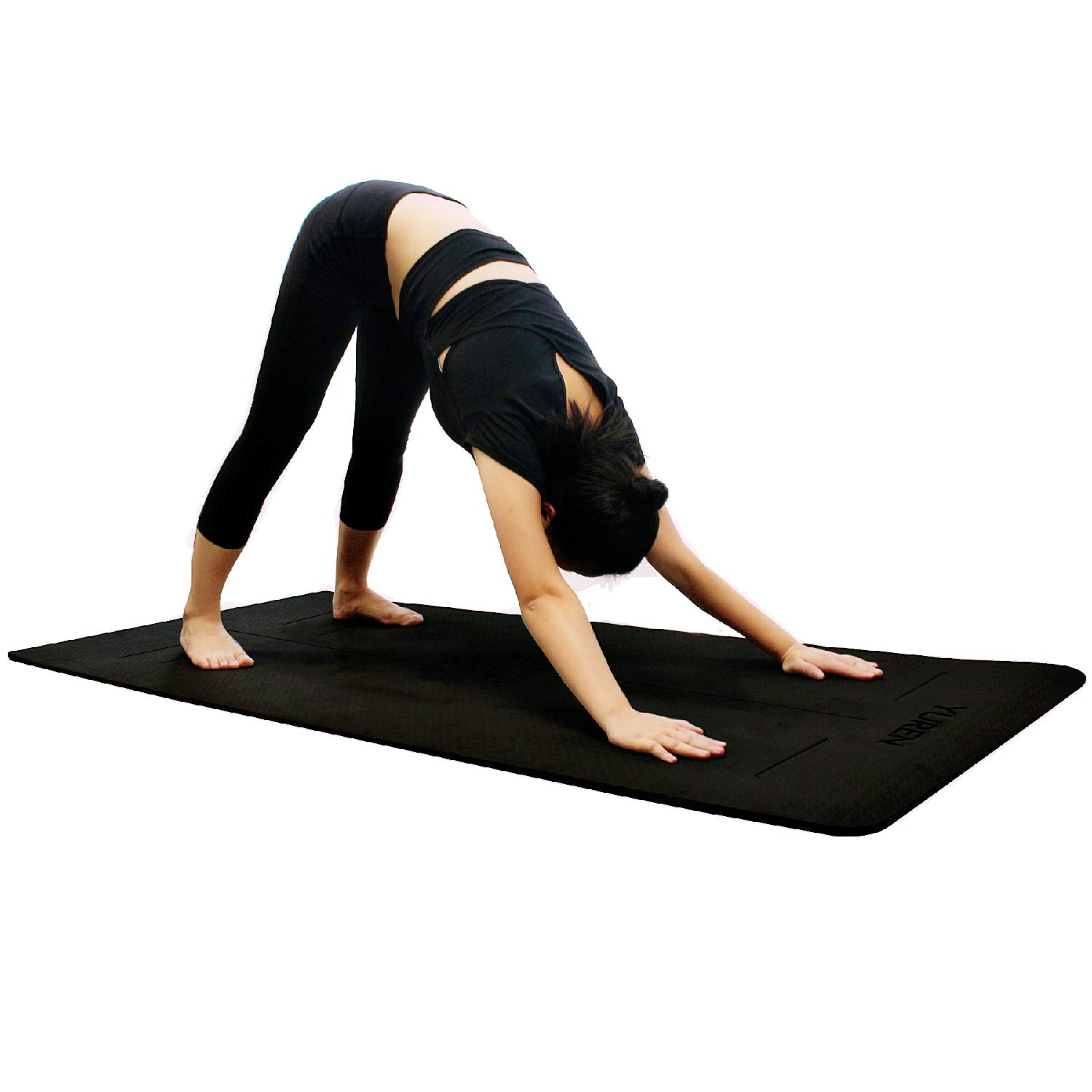 Amazon.com: Yuren esterilla de yoga grosor 10 mm. colchoneta ...