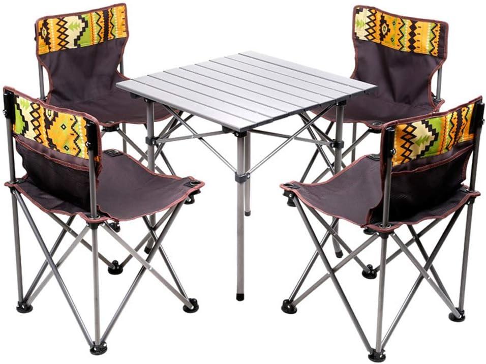 GJG Mesa De Camping Portátil, Mesas De Picnic, Muebles De Camping Mesa Plegable De 5 Piezas Silla De Camping Opción Múltiple: Amazon.es: Hogar