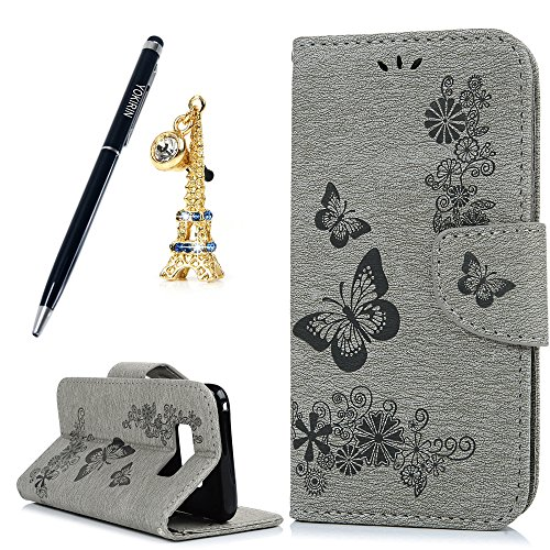 [Galaxy S8 Plus Wallet Case,YOKIRIN PU Leather Premium [Card Holder] [Book Design] Magnetic Closure Stand Wristlet Flip Protective Cover & Eiffel Tower Dust Plug & Stylus Pen for Samsung Galaxy S8] (Top Diy Halloween Costumes 2016)