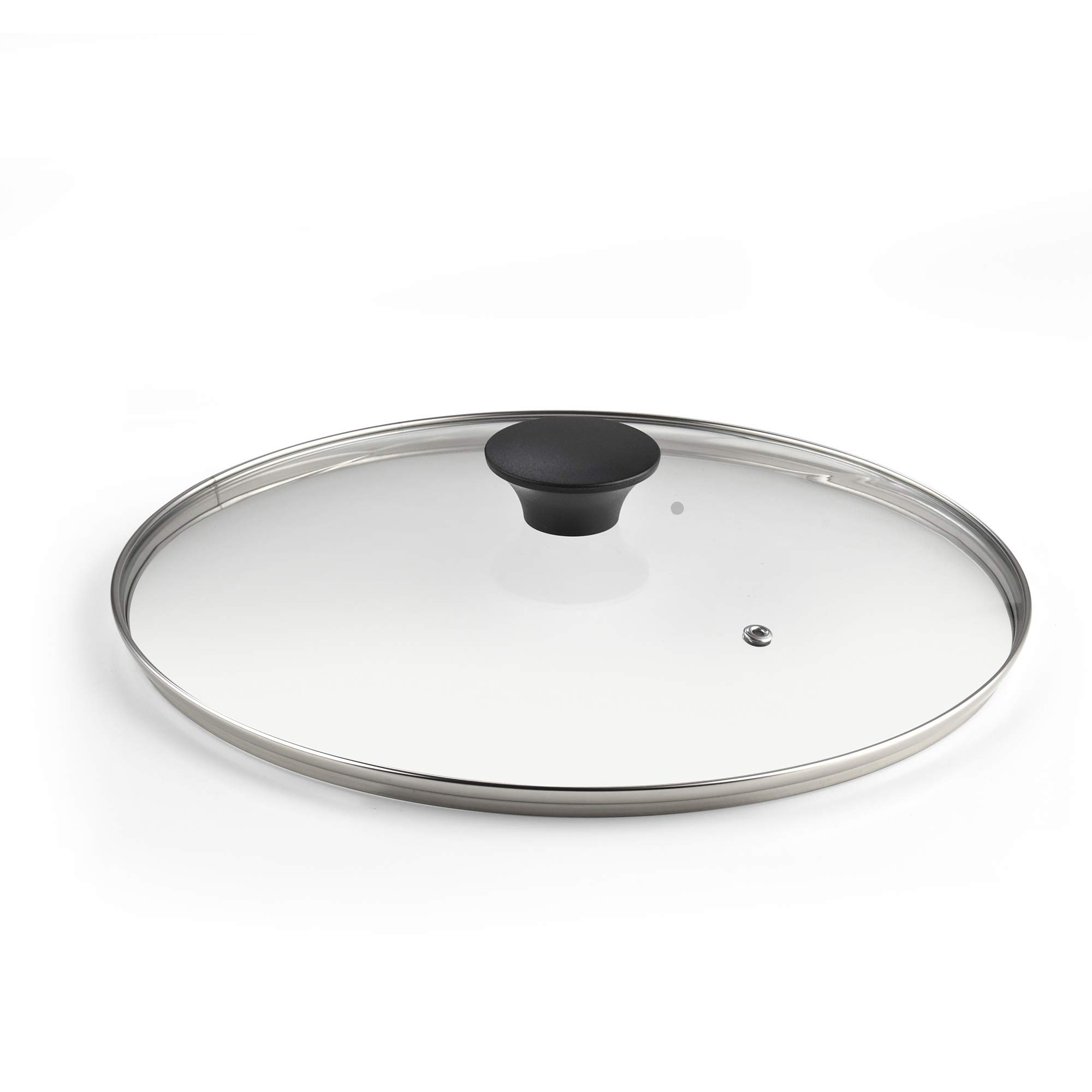 Cook N Home 12''/30cm Tempered Glass Lid, Large, Clear