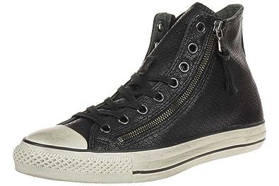 ff1bce9d222 Converse Men s CT Leather Double Zip HI Black 147379C (Size  ...