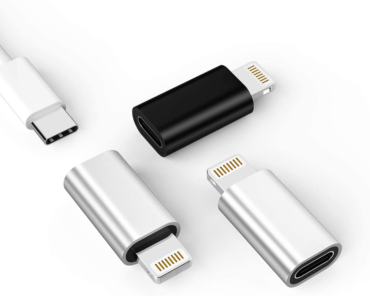 USB C to Lightning Adapter,Lightning Male to USB Female Adapter,Charging for Apple iPhone 12/11/pro/max/XS/XR/X/8 7 Plus/6S/SE2/Ipad pro air Mini 2019 2020 Type C Charger Cable Converter