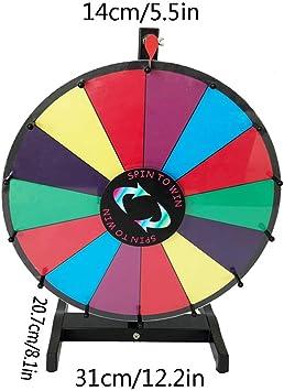 Juego de Ruedas 46cm / 18IN de Mesa de la Ruleta del Casino y 4,2 kg Soporte Material de Fondo con Color Fortuna Rueda Precio De Volviendo a Spin Juego Carnival,Multicolored: Amazon.es: