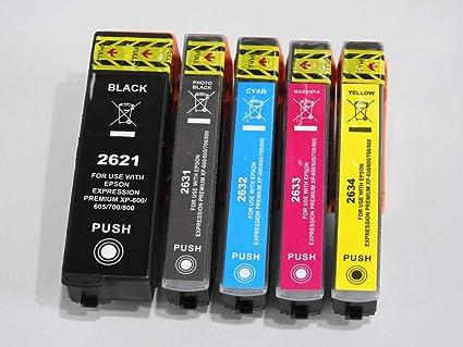 Pack de 5 Cartuchos de Tinta compatibles Epson T26 Serie Oso Polar – para impresoras de inyección de Tinta Epson: Amazon.es: Oficina y papelería